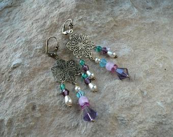 Earrings * secret garden *.