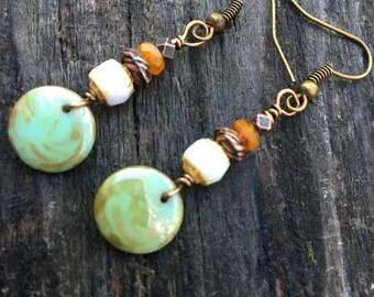 Boho Earrings, Hippie Earrings, Gypsy Earrings, Dangle Earrings, Unique Earrings
