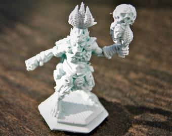 Miniature figure orc Shaman/magician-resin-48 mm