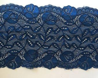 Lace spandex Blue loves 15 cm wide