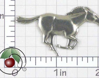 Galloping Horse Finding Pewter Galloping Horse Stamping, Western Decor, Western Horse Made in USA Pewter Finish, 1 Pc, 1428poo
