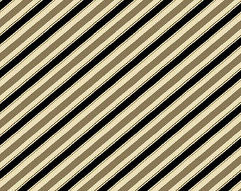 Barber Shop Diagonal Stripes Quilting Cotton Fabric; [[by the half yard]]