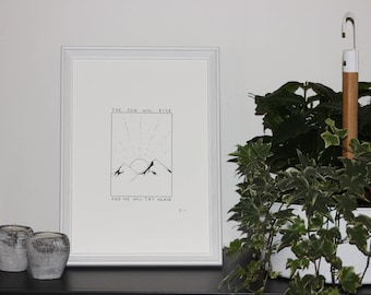 Truce - Signed and numbered dot art print