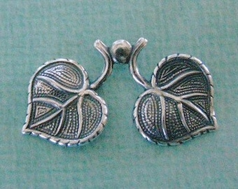 SALE Double Silver Leaf Finding 856