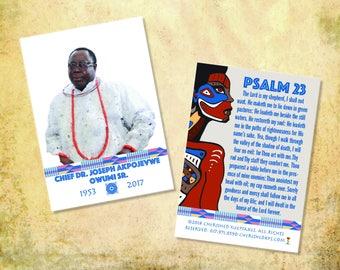 Beautiful African Wallet Prayer Cards: Kente Design Collection