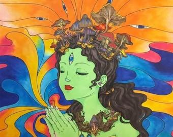 Trippy Green Tara