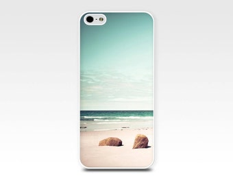 beach scene iphone case 5s iphone 6 case 4s ocean iphone case beach iphone 4 case 5 nautical iphone case art teal mint green iphone case