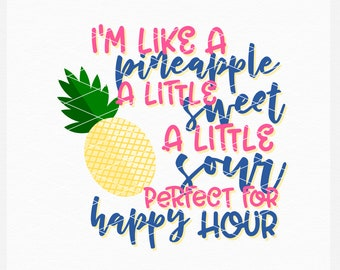 Pineapple, Alcohol, Svg, Shirt Design, EPS, DXF, PNG, Summer, Adult, Summer Design, Summer Svg, Instant Download, Commercial Use, Cricut