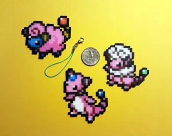 Pokemon Shiny Mareep, Flaaffy, Ampharos