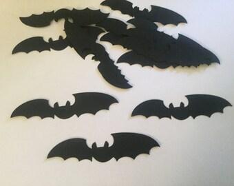 50 Halloween Black Bat Die Cuts Bat Confetti Bat Cutouts Bat Theme Party Halloween Party Halloween Decor Flying Bats Large Bat Flying Bat