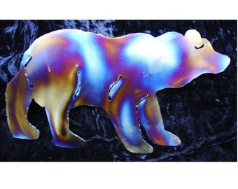 BEAR Black Brown Grizzly House Mountain Home Metal Wall Art Decor Lodge Cabin Interior