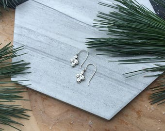 Carved Sterling Sparkle Earrings