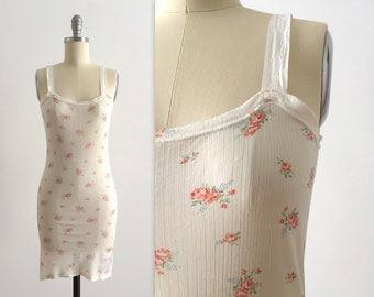1940s floral rayon chemise