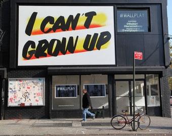 New York City Print, Can't Grow Up, New York City Wall Art, Street Photography, Fine Art Photography by Deborah Julian