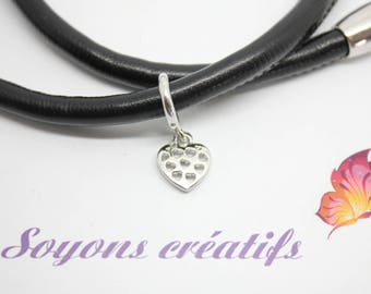 1 cord 6-7 mm - SC77961 - Perle passing silver heart