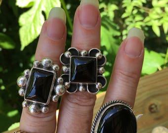 Black onyx ring/6.5