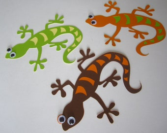 Lizards, party decor, reptile theme decorations, kids party, Birthday, die cut lizards