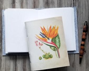 Jahrgang Paradiesvogel Zeitschrift, Tagebuch Notizbuch Planer, floral, Freude Dankbarkeit Journal - Geschenk für unter 25