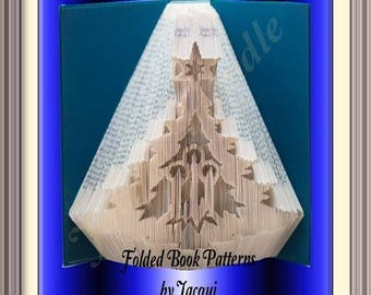 2108. Christmas Book Folding Pattern - Tree and Candles
