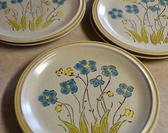 Highland Flowers, Hearthside, Garden Festival, DINNER PLATE, Hand Painted Stoneware, Japan