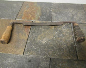 Old Draw Knife, Carpenters plane , Draw plane, primitive tool , woodworkers tool