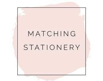 Matching Stationery | ADD ON LISTING