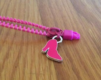 pink zipper bracelet