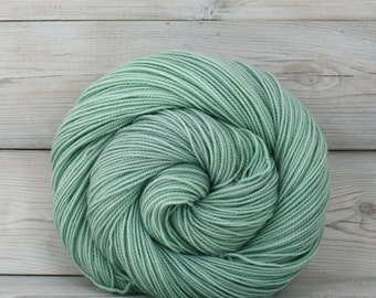 Celeste - Hand Dyed Superwash Merino Fingering Sock Yarn - Colorway: Sea Foam