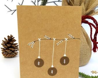Football Christmas card, card for football player, football fan, holiday card, Christmas card, greeting card