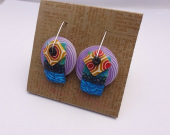DE Fun and games 1 earrings by Marie Segal, new earring design and wire design
