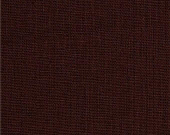 Organic Cotton Fabric - Canvas  Light to Medium Weight  Chocolate Brown - Remnant