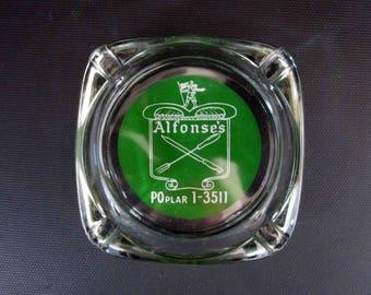 Vintage Ashtray from: Alfonse's. Circa 1950's - 1960's.