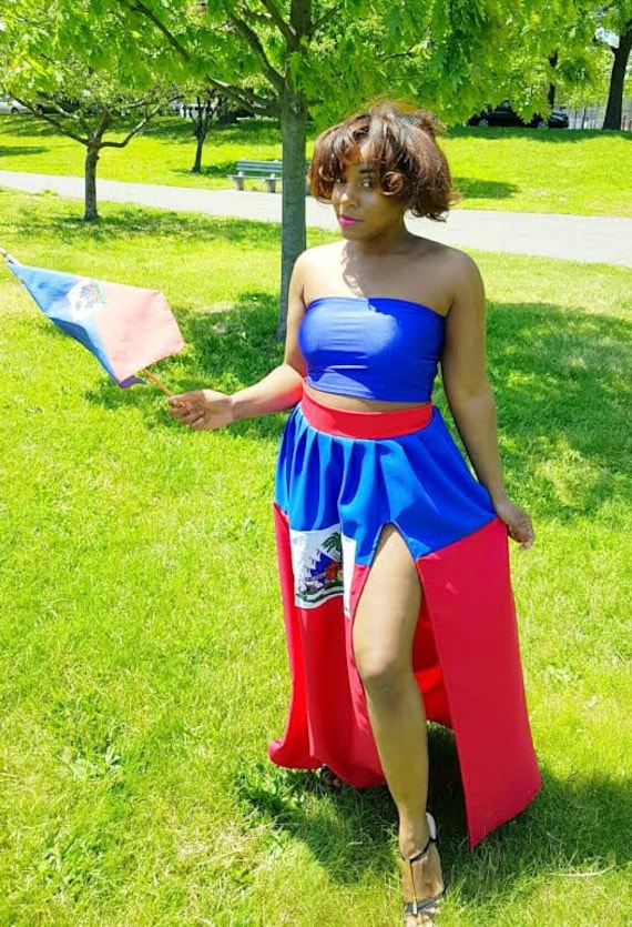 Custom Haiti Flag Maxi Skirt Haitian Flag Day Outfit *Skirt Only *Other Countries Produced by Request
