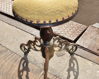 19th Century Victorian Antique Ornate Adjustable Stool