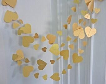 Día de San Valentín, guirnalda de oro corazón guirnalda Wedding, decoración del hogar