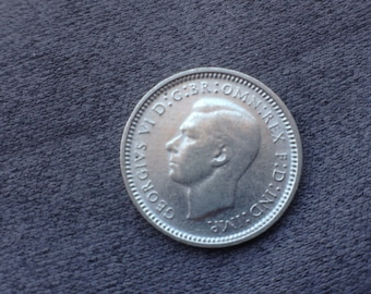1947 Australia Three Pence Low Mintage Silver Error Coin
