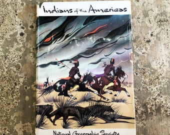 Vintage Native American History Book, Beautifully illustrated 1955 National Geographic Society