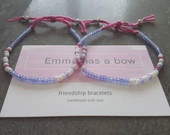 """The Morse code """"big sister/Lil sister"""" friendship bracelet"""