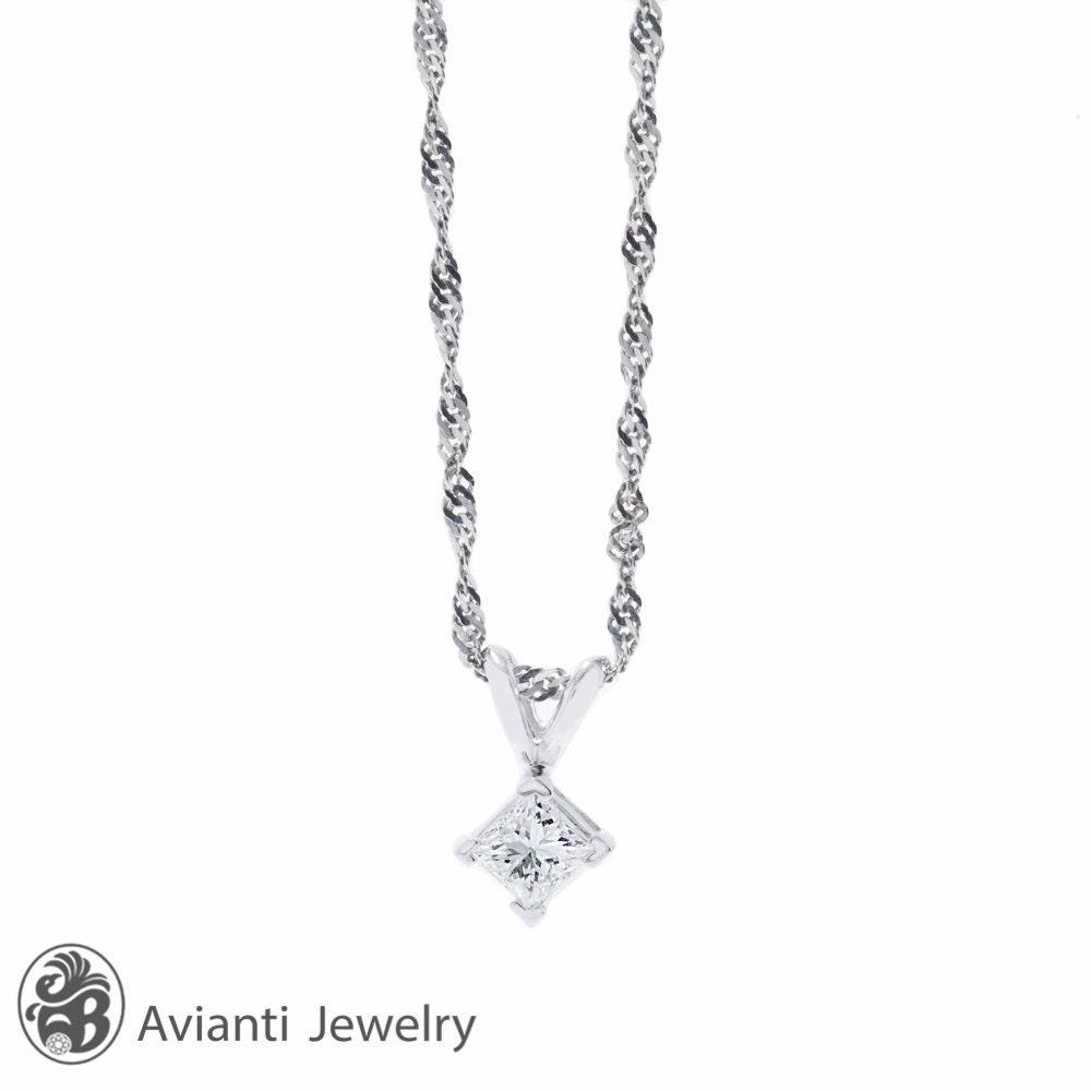 Diamond necklace princess diamond solitaire princess cut zoom aloadofball Images