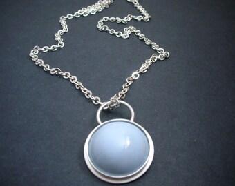Enamel Pendant Sterling Silver Chain