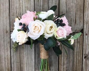 Wedding Bouquet, Blush Bouquet, Bridal Bouquet, Boho Bouquet, Champagne Bouquet