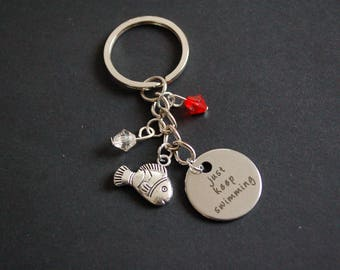 Just keep swimming Keyring