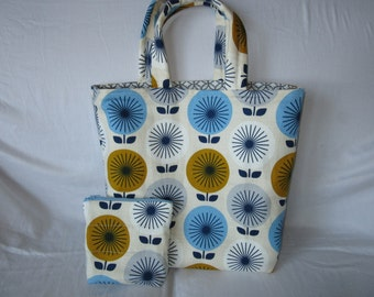 Shopping Tote with Matching Zipper Pouch