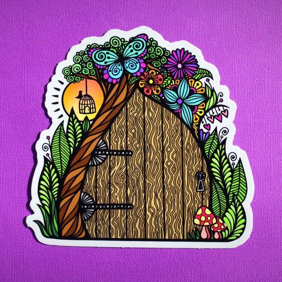 Fairy Door Sticker (WATERPROOF)