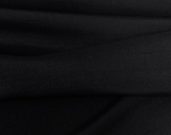 100% Silk Dupioni Black Fabric - 3 Yd Pc. - New - Wholesale