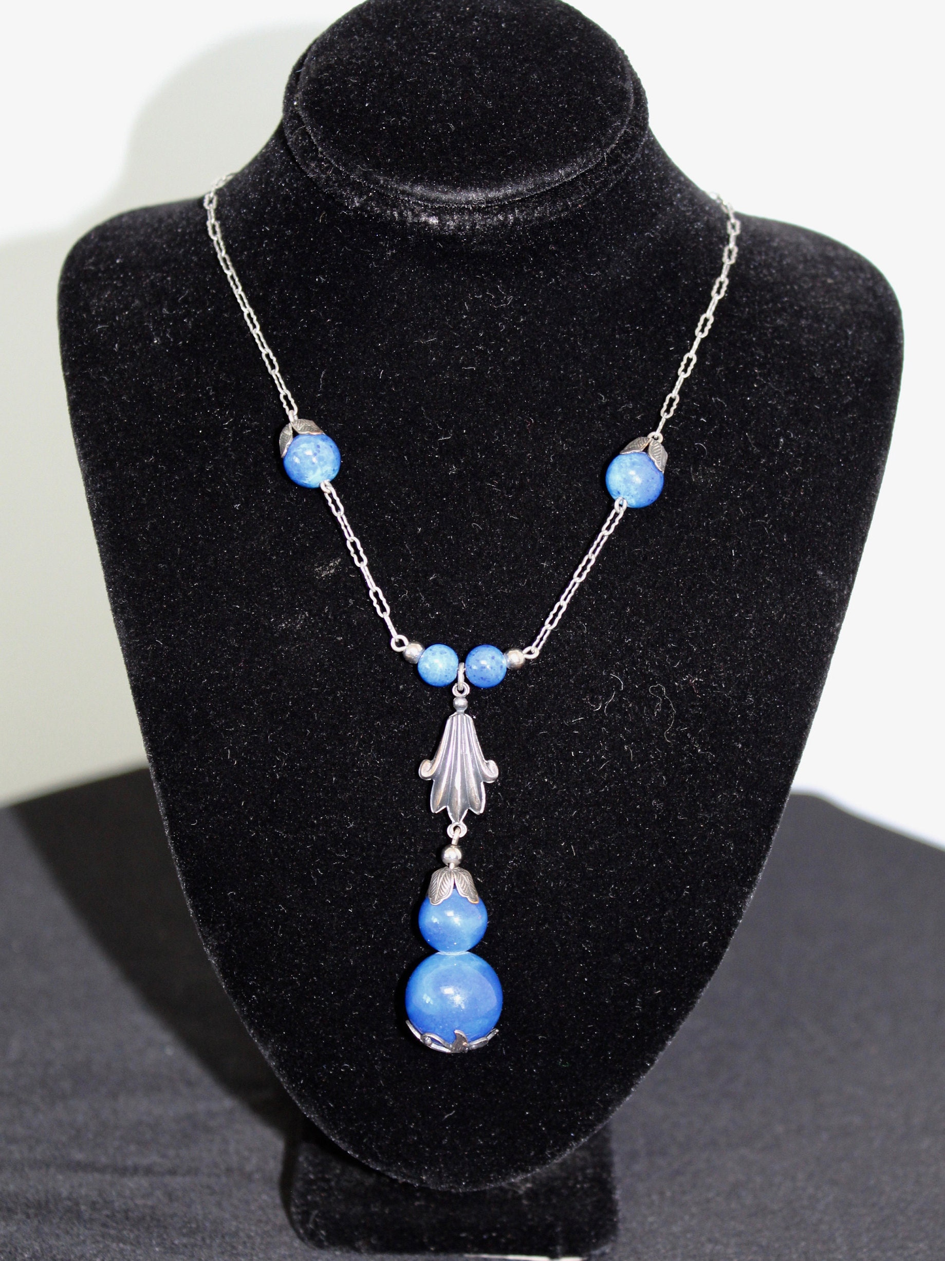 necklace blue cube products cobalt getty store the
