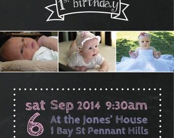 Birthday Invitations Custom Children Party Kids