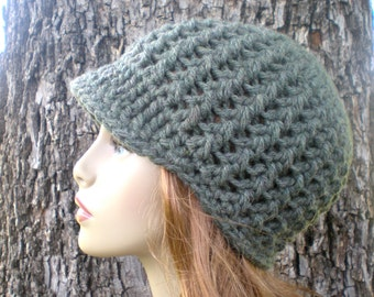 PATTERN: Amsterdam Hat, Easy crochet PDF, Adult/ teen, newsboy beanie, visor, bulky chunky yarn, InStAnt DoWnLoAd, Permission to Sell