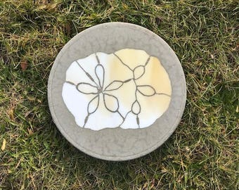 Stained Glass, Glass Art, Sand Dollar, Outdoor, Garden, Stepping Stone, Ocean