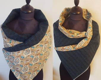 Wool and cotton reversible